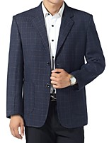 Suits Standard Fit Notch Single Breasted Two-buttons Cotton Gingham 1 Piece Patch Pocket None (Flat Front) None