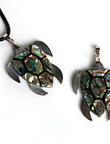 Beadia 40x48mm Natural Abalone Shell Turtle Tortoise Pendant (1Pc)