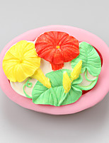 Morning Glory Chocolate Silicone Molds,Cake Molds,Soap Molds,Decoration Tools Bakeware