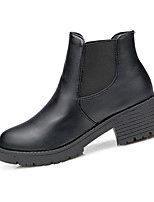 Women's Boots Winter Fashion Boots PU Casual Flat Heel Others Black Others