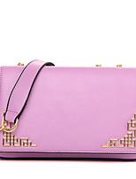Women-Formal / Casual / Office & Career / Shopping-PU-Shoulder Bag-Beige / Purple / Blue / Red / Black