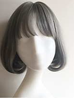 2016 Hot Sale Harajuku Grey Short Lovely Girl Wigs Daily Wearing Lolita Cosplay Wig Party Wig
