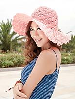 Women Casual Handmade Hollow Summer Sun Beach Lady Curling Idyllic Hat