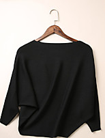 Women's Solid Black / Gray / Green Cardigan,Sexy / Street chic ¾ Sleeve