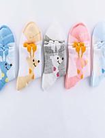 Girls / Boys Socks & Stockings,All Seasons Cotton Blends Blue / Pink / White / Beige / Gray