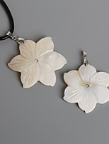Beadia 48mm Natural Mother of Pearl  Flower White Shell Pendant  (1Pc)