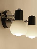 apliques de cristal retro simplicidad tapa de base cafe bares comedor mesa de bar pasillo baño luces de espejo de metal