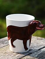 céramique tasse de café tasse de lait couleur aléatoire animaux 400ml dessin animé 3d 1pc peint à la main