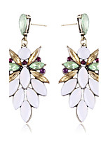 Fashion Personality White Gem Diamond Bohemian Earrings