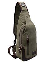 Unisex-Casual-Canvas-Shoulder Bag-Green / Coffee / Black