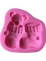 Baby Bear Shoes Cake Molds  SM-513