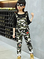 Girl's Casual/Daily Print Pants / Jeans,Rayon Spring / Fall Green