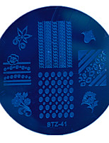 1pcs Nail Art Stamping Plate Small Round Shape Plate Geometric Image Manicure Tools  STZ41-45