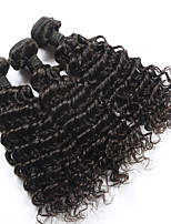 3 Bundles Lot Brazilian Curly Virgin Hair 100% Unprocessed Brazilian Human Deep Wave Virgin Hair Weft