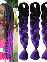 Black Bluish Purple Ombre Crochet 24