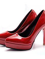 Mujer-Tacón Stiletto-PuntiagudosVestido / Casual-Semicuero-Negro / Rosa / Rojo / Blanco / Gris