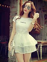 Pink Doll® Women's U neck Ruffles Sleeveless Shirt & Blouse White-X15BST008