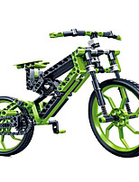 New technology science particles assembled puzzle toy bike