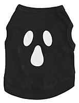 Cat / Dog Shirt / T-Shirt Black Summer / Spring/Fall  Halloween, Dog Clothes / Dog Clothing