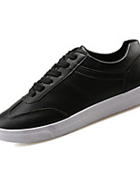 Men's Shoes PU Outdoor / Casual Sneakers Outdoor / Casual Walking Flat Heel Others / Lace-up Black / Green / White