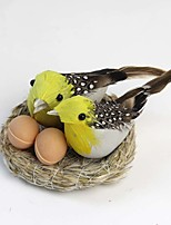 Simulation Birds Nest with 2 Eggs and 2 Birds Simulation Scenarios Furnishings Nest Decorations Props Set of 1