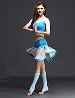 Accesorios(Negro / Azul claro / Azul Rey,Rayón / Espándex,Danza del Vientre) -Danza del Vientre- paraMujer Plisado Representación