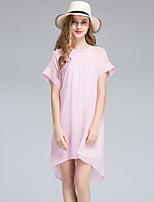 Viva Vena® Women's Round Neck Short Sleeve Knee-length Dress-VA88153