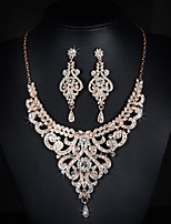 Jewelry Set Women's Anniversary / Wedding / Engagement /Party / Special Occasion Jewelry Sets Alloy RhinestoneNecklaces