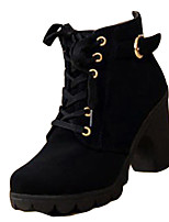 Women's Boots Spring / Summer / Fall Combat Boots Fleece Casual Chunky Heel Others Black / Yellow / Green