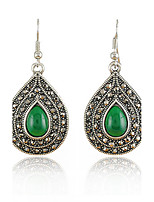 Women's Drip Shape Vintage Gem Diamond Fashion Drop Earrings