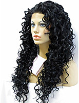 EVAWIGS Fashion Young Girls Lace Wigs Unprocessed Human Hair Full Lace Wig Natural Color Curly Wigs