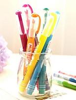 creativo del color del caramelo de la anomalía dividió a los estudiantes del doodle de la pluma pluma de la marca fluorescente