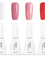 12ml Azure Summer Color Nail Polish 4PCS Soak off UV Gel Nails Art Decoration NO.1