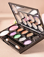 10Colors Eyeshadow Palette Dry Eyeshadow palette Powder Daily Makeup(Random Colors)
