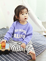 Girl's Casual/Daily Print Blouse,Cotton Spring / Fall Purple