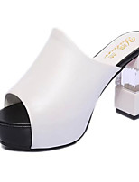 Women's Sandals Summer Sandals PU Casual Chunky Heel Others Black / White Others