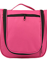 Unisex Nylon Casual / Outdoor Cosmetic Bag Black / Fuchsia