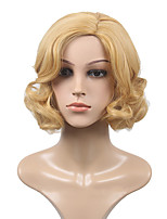 High Quality Natural Curly Light Blonde Color Synthetic Wig For White Women