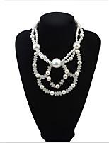 Beaded Wear Flowers Pearl Necklace