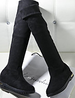 Women's Boots Fall Fashion Boots PU Outdoor Flat Heel Others Black / Brown