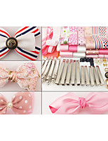 DIY bag pink hair material package suits hand-made ribbon bow headwear hairpin accessories