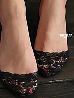 Women Thin Socks,Cotton / Lace