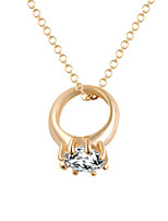 Contracted Personality Crystal Necklaces Ring Zircon Decorative Clavicle  Chain