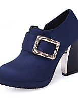 Women's Shoes Heels / Platform / Fashion Boots / Round Toe Boots Party & Evening / Dress / Casual Chunky Heel Buckle