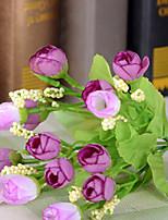 1 1 Une succursale Polyester Roses Fleur de Table Fleurs artificielles 22*2*2cm