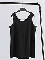 Women's Casual/Daily Simple Summer / Fall Tank Top,Animal Print Round Neck Short Sleeve  Cotton Medium