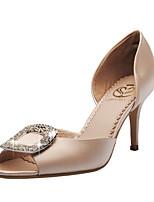 Da donnaMatrimonio / Formale / Serata e festa-Spuntate / D'Orsay / Aperta-A stiletto-Raso-Rosso / Champagne