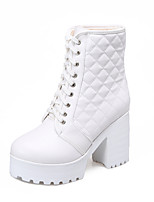 Women's Shoes    Heels Boots Outdoor / Office & Career / Casual Chunky Heel Others Black / White  &8-13