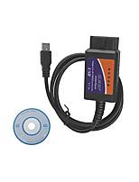 USB OBD2 ELM327 Automotive Diagnostic Test Line, Plastic Shell