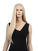 Capless Blonde Color High Quality Long Straight Synthetic Wig